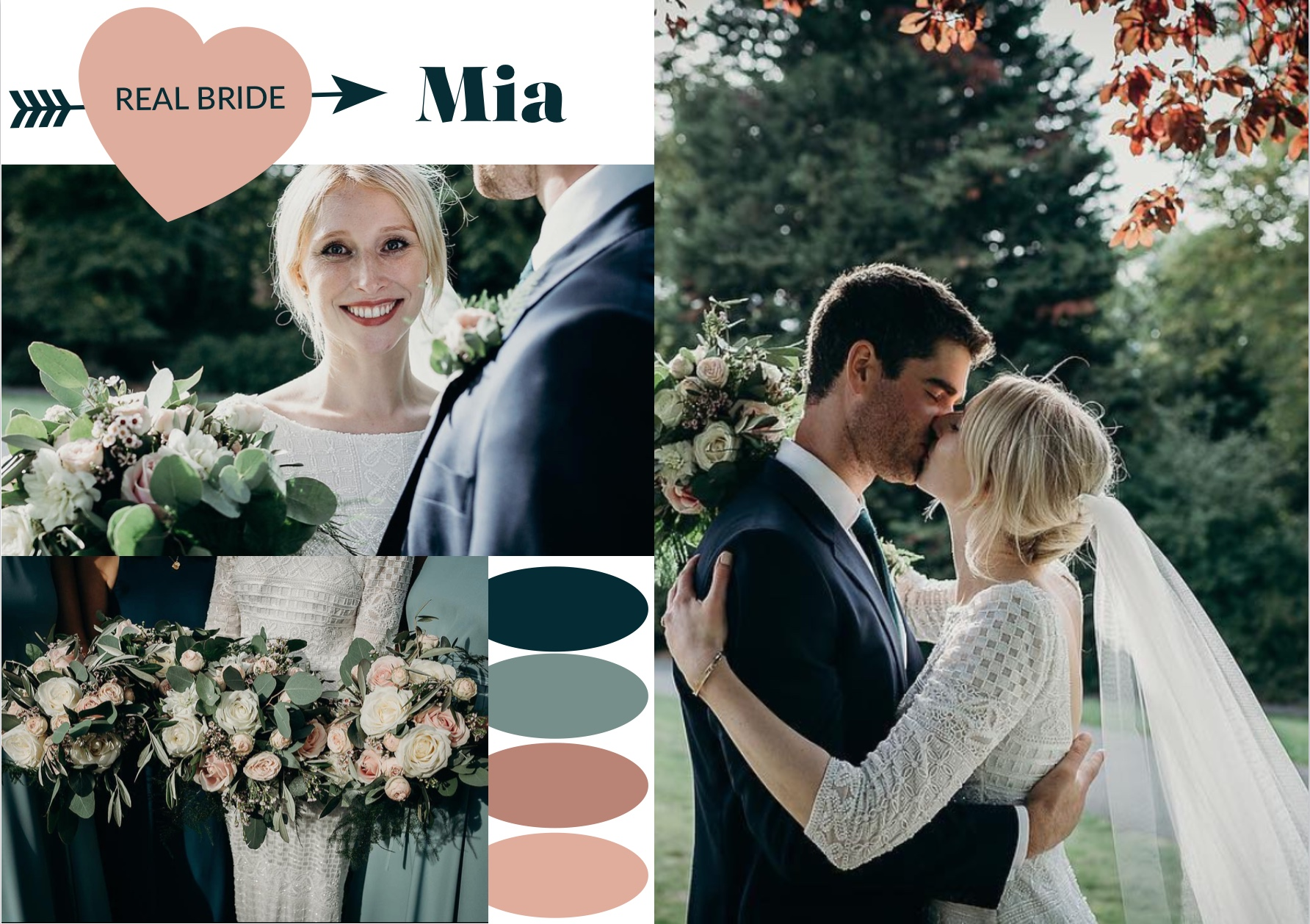 Real Autumn Bride Mia by Delphine Couture